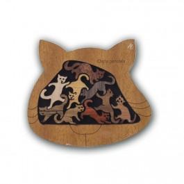 Casse-tête en bois Chats Perchés