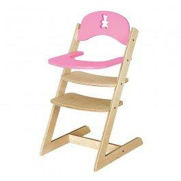 Chaise haute Nounours rose pour poupée