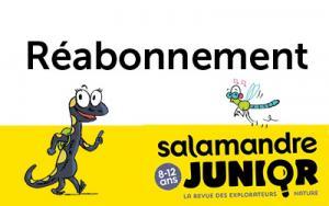 Réabonnement à La Salamandre Junior (8-12 ans), 1 an