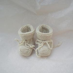 Chaussons pour bébé 100% laine mérinos d'Arles
