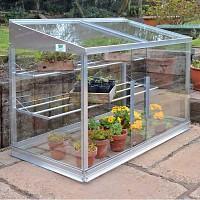 Mini Serre en verre et aluminium 0.80m2