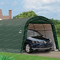 Garage démontable en toile de 22.57m2 larg. 3.70m x long. 6.10m