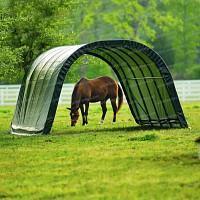 Abri en toile pour chevaux de 22.3m2 larg. 3.70m x long. 6.10m