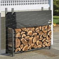 Abri pour bois de chauffage 1.6 stères en métal et housse de protection