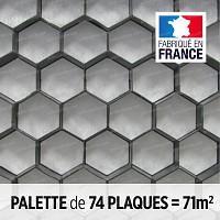 Palette stabilisation gravier Nidagravel NOIR 120x80cm x haut.29mm. 74 plaques = 71m2