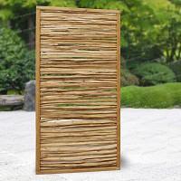 Panneau cadre en pin et rameaux de noisetier 90x180cm