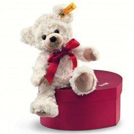 Ours Teddy Sweatheart dans sa boîte en coeu'r