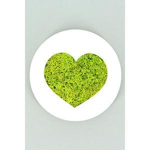 Tableau végétal Micro Picto Coeur Diam 10 cm