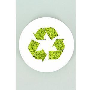 Tableau végétal Micro Picto Recyclage Diam 10 cm