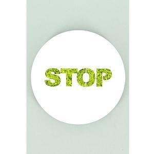 Tableau végétal Micro Picto Stop Diam 10 cm