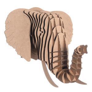 Tête Eléphant en Carton Recyclé - Taille M