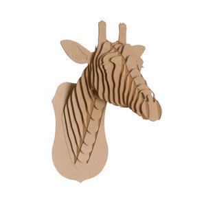 Tête de Girafe en Carton Recyclé - Taille L
