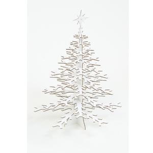 Arbre de Noel en Carton Recyclé Blanc - 25 x 36 cm