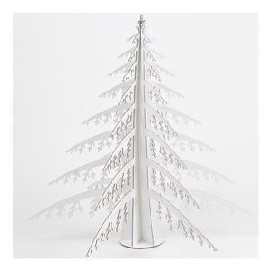 Sapin de Noel en Carton Recyclé Blanc - 56 x 56 x 56 cm