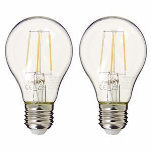 Pack de 2 Ampoule LED à filaments A60 Blanc Neutre 470 lumens (équi. 40W) E27 XANLITE