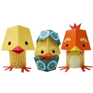 Paper toys - the yolk folk