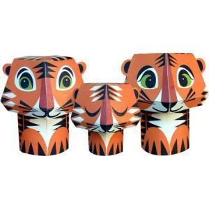 Paper toys - the Tiger trio