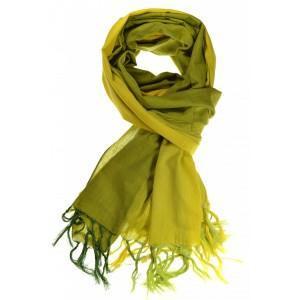 Cheche foulard vert jaune