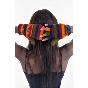 Gants mitaines multicolores