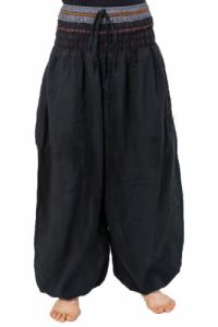 Pantalon saroual bouffant noir sari brillant Kevah