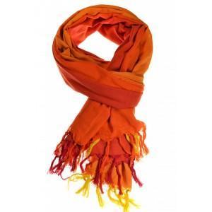 Cheche foulard camaieu orange chine