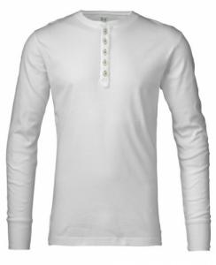Rib Knit Henley Bright White