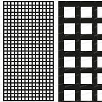 Treillage maille carrée 47mm 1.00mX2.00m NOIR