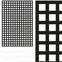 Treillage maille carrée 47mm 1.00m x 1.50m NOIR