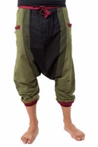 Sarwel pantacourt mixte coton leger noir vert jaune rouge