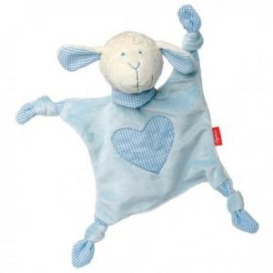 Sigikid doudou mouchoir mouton bleu coton bio - doudou mouchoir