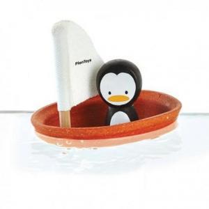 Voilier pingouin plantoys 'planwood'  - jouets de bain