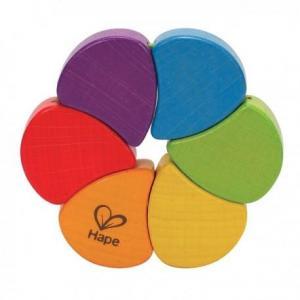 Hape jouets hochet arc en ciel 6 couleurs - jouets bio hape
