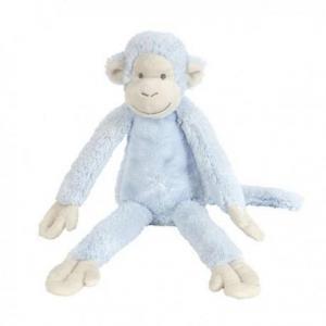 Peluche doudou singe mickey bleu 33 cm happy horse - doudou singe