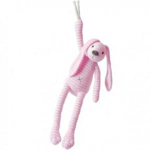 Happy horse lapin reece peluche musicale rose 34 cm - doudou lapin