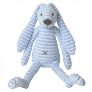 Happy horse lapin reece peluche doudou bleu 32 cm - doudou lapin