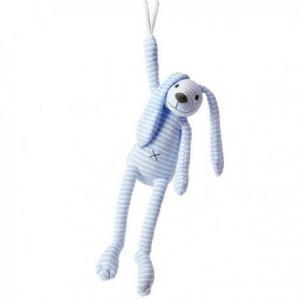 Happy horse lapin reece peluche musicale bleu34 cm - doudou lapin