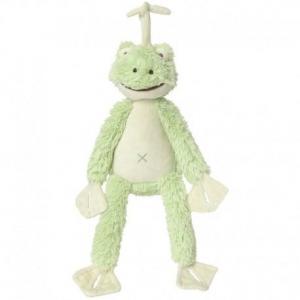 Happy horse grenouille frazier peluche musicale verte 34cm - doudou