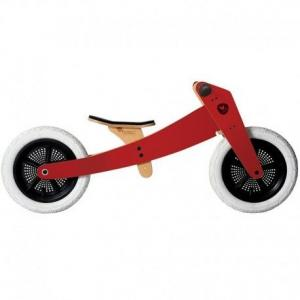 Draisienne  wishbone bike 2 en 1 classic  rouge  - draisienne en bois