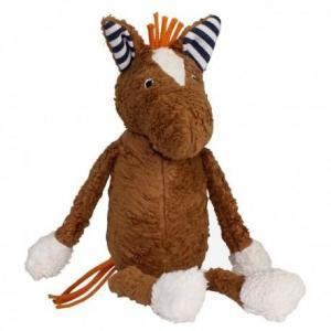 Peluche bio poney tony lana natural wear - doudou bébé bio