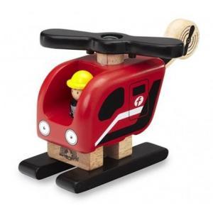 Hélicoptère de pompiers wonderworld - jouets en bois