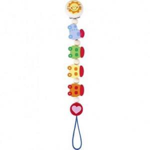 Attache tétine train coloré heimess - jouets accessoire bébés