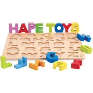 Puzzle alphabet majuscules - jouets hape