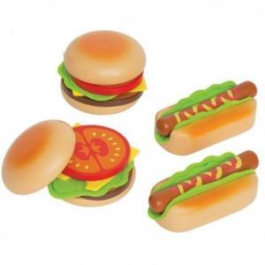 Hape dinette hamburger - hotdogs - jouets hape