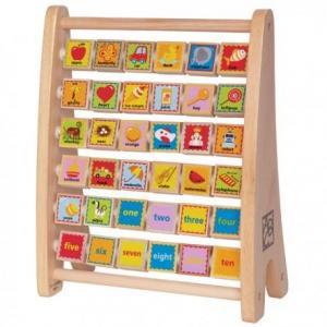 Abaque alphabet illustré en anglais - jouets hape
