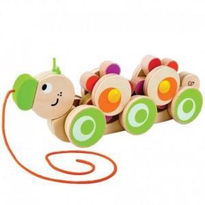 Hape jouet  à trainer chenilles - fleurs - jouets hape