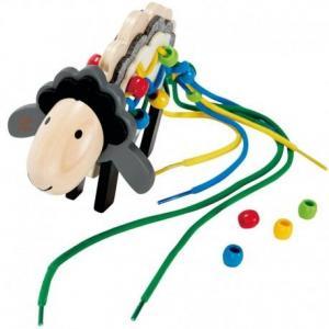 Set loisirs créatifs jeu de laçages mouton  - jouets hape