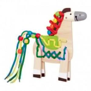 Set loisirs créatifs jeu de lacets poney  - jouets hape
