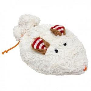 Doudou bouillotte lana natural wear souris nature - noyaux de cerises