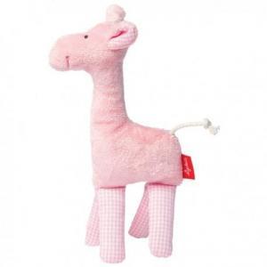 Sigikid hochet girafe rose coton bio  - hochet  bébé bio
