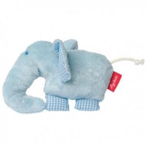 Sigikid hochet éléphant bleu coton bio  - hochet  bébé bio